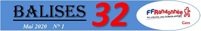 Balise 32 édité par la FFRandonnée du Gers