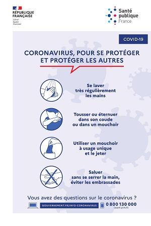 Les gestes barrières en France COVID 19
