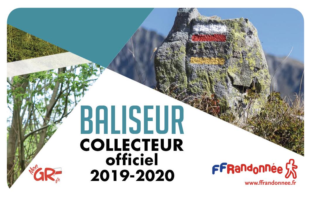 Carte de baliseur collecteur officiel FFRandonnée