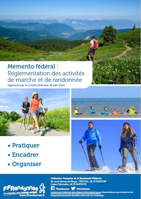 Mémento fédéral réglementation des activités de marche et de randonnée