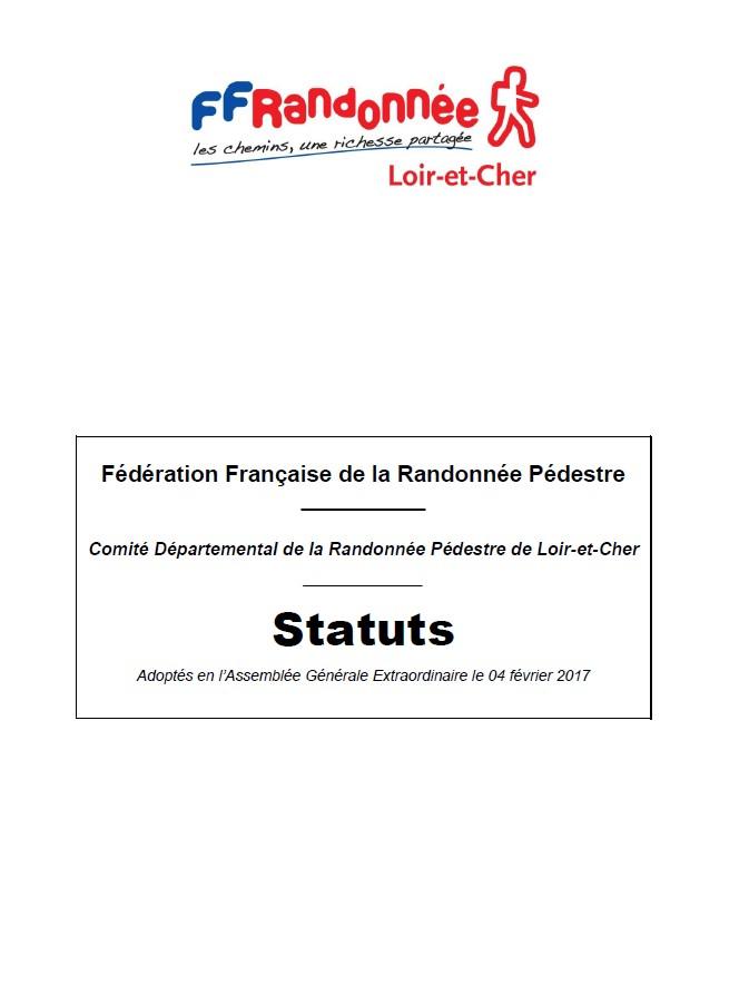 Statuts CDRP 41