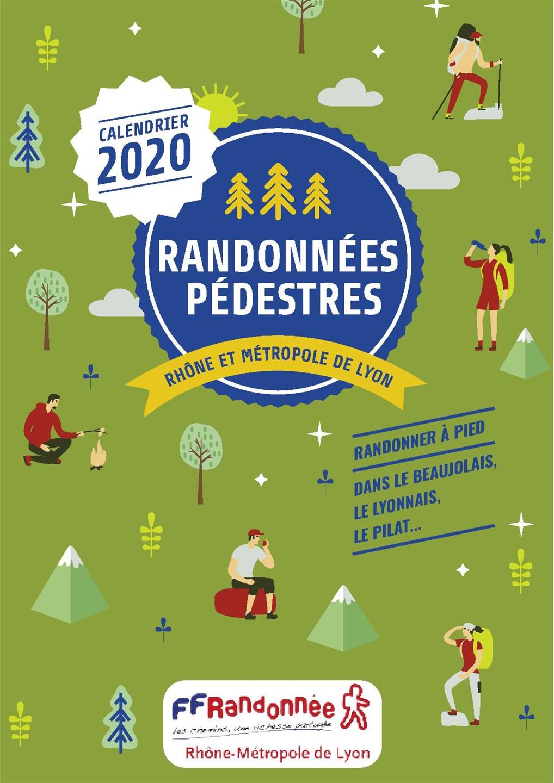 couverture calendrier 2020 ffrandonnee rhone-metropole de Lyon