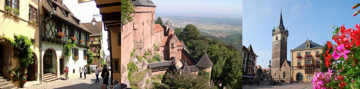 Villages alsaciens et Château du Haut-Koenigsbourg