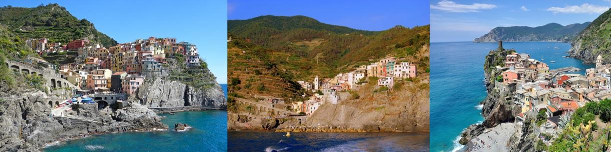 Paysages colorés des Cinque Terre