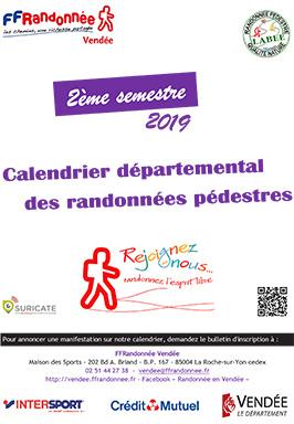 Calendrier 2019 2eme Semestre.Calendrier Des Randonnees Du 2eme Semestre 2019