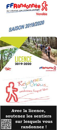 Randonnee Pedestre Vendee Calendrier 2020.Licence Hors Club Ffrandonnee Vendee