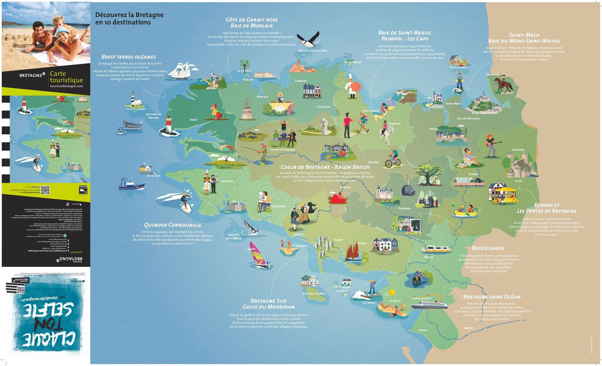 Saint malo carte touristique voyages cartes for Carte touristique