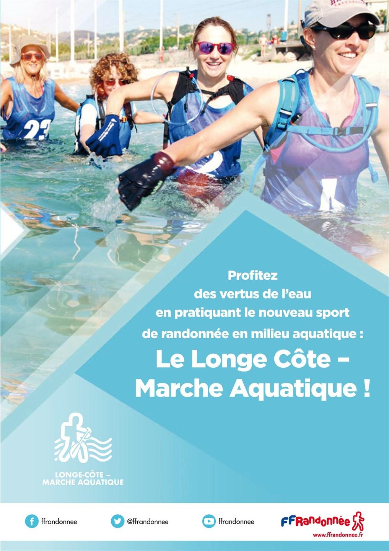 FFRandonnée - marche aquatique - longe côte - club - association - randonnée - animateur - bien etre - santé