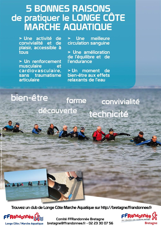 FFRandonnée - longe côte - marche aquatique - bien etre - santé - association - randonnée