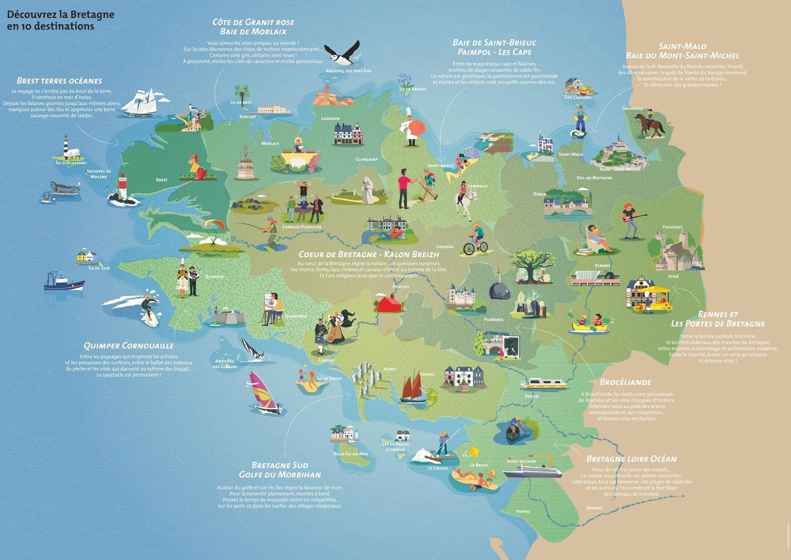 Les 10 destinations touristiques de Bretagne - Le site officiel de la FFRandonnée Bretagne