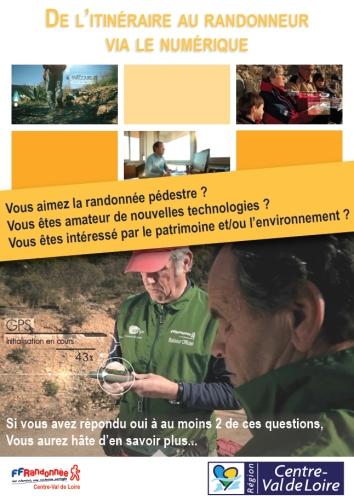 Intégrer le programme de numérisation des itinéraires de randonnée en Centre-Val de Loire