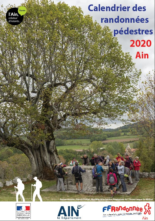 Calendrier des randonnées 2020   FFRandonnée Auvergne Rhône Alpes
