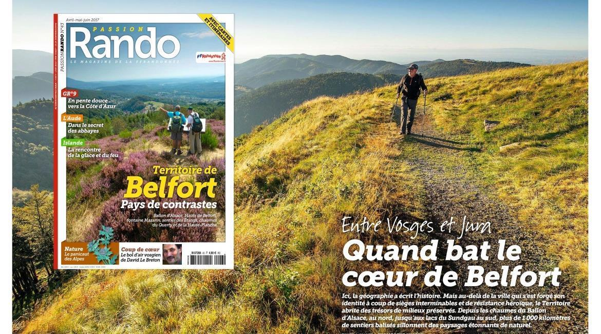 MEDIA : Territoire de Belfort, destination de printemps de  Passion Rando