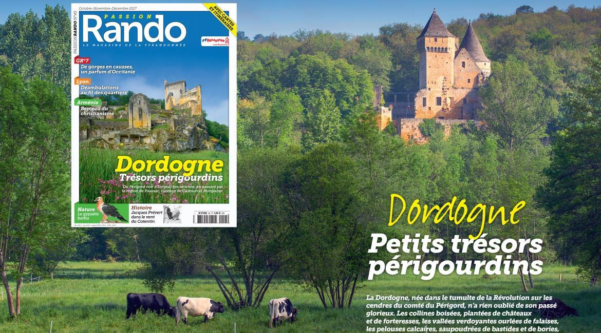 MEDIA : La Dordogne, destination automnale de Passion Rando N°45