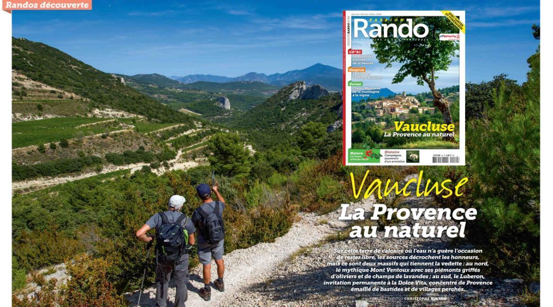 MEDIA : Le Vaucluse, destination du dernier numéro  de Passion Rando