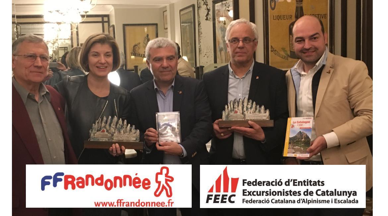 PARTENARIAT : Randonneurs français et catalans ont conclu un  partenariat