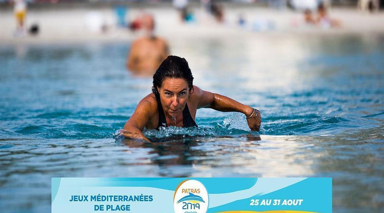 Le longe-côte en démonstration aux 2e Jeux Méditerranéens de Plage de 2019 à Patras