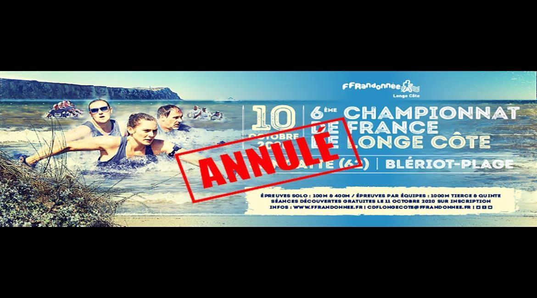 Annulation du Championnat de France de longe côte 2020