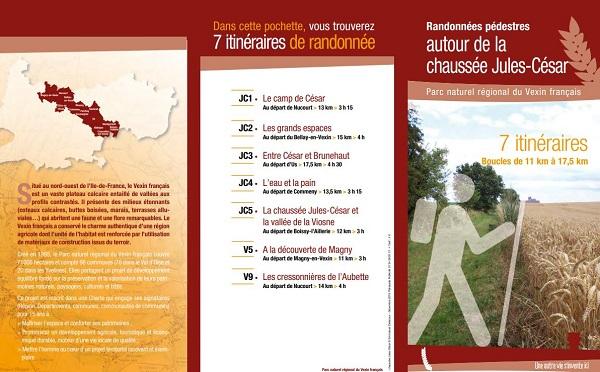Les pochettes rando de la FFRandonnée Val-d'Oise