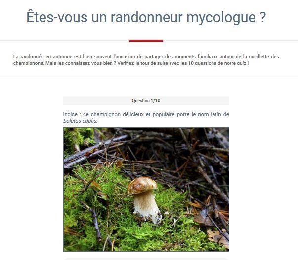 Êtes-vous un randonneur mycologue ?