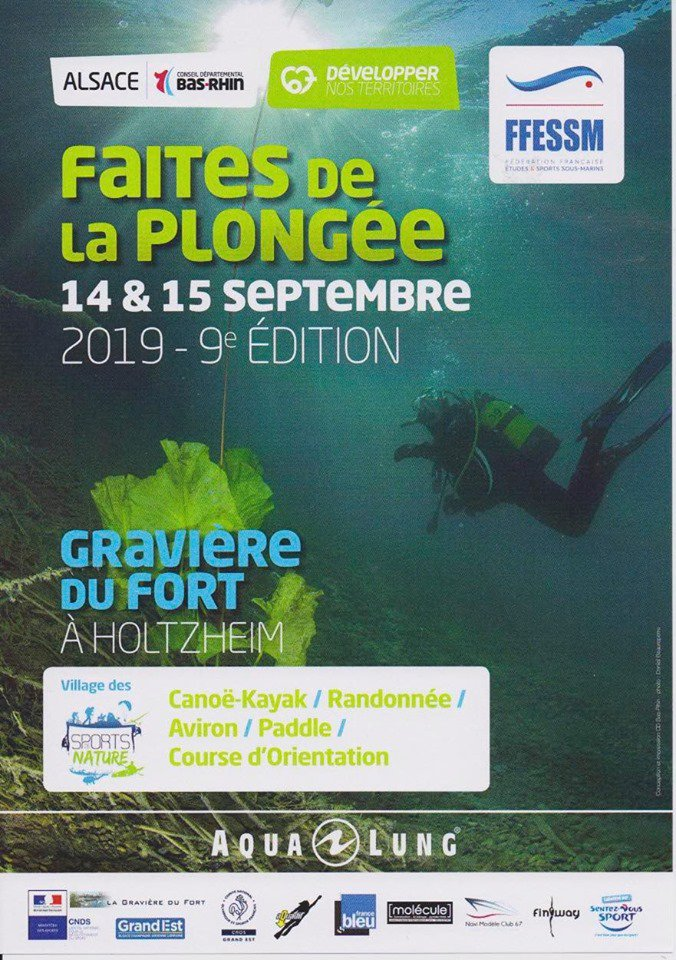La rando france Bleu Alsace - CROS Grand-Est - flyer Faites de la plongée