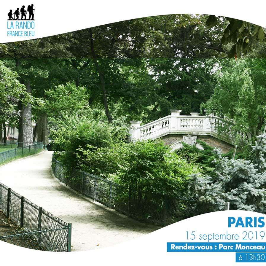 La Rando France Bleu Paris dimanche 15 septembre au Parc Monceau