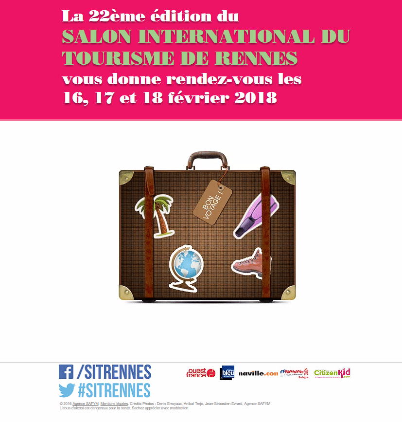 Rennes salon international du tourisme 22 me d site for Salon international du tourisme rennes