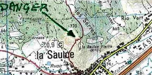 Carte repere 40 - 43 Tour de la Saulce Vieille
